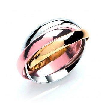 White/Yellow/Rose Gold Russian Wedding Ring   Ukrainian