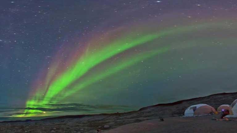 Primera retransmisión mundial y en directo de una aurora boreal