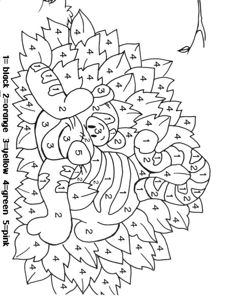 Color by Numbers coloring pages. Download and print Color ...