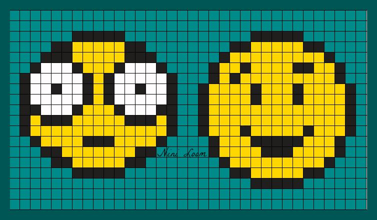 Smile Dessin Pixel Art Facile Smiley