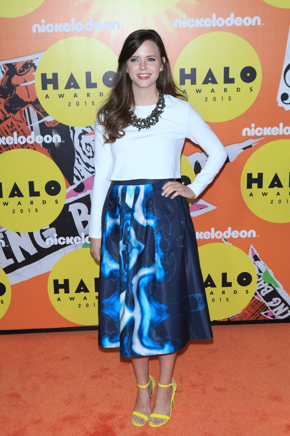 TIFFANY ALVORD at 2015 Nickelodeon Halo Awards in New York 11/14/2015