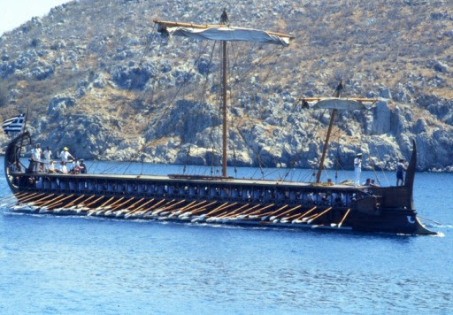 Olympias arriving at Tolo, August, 1990