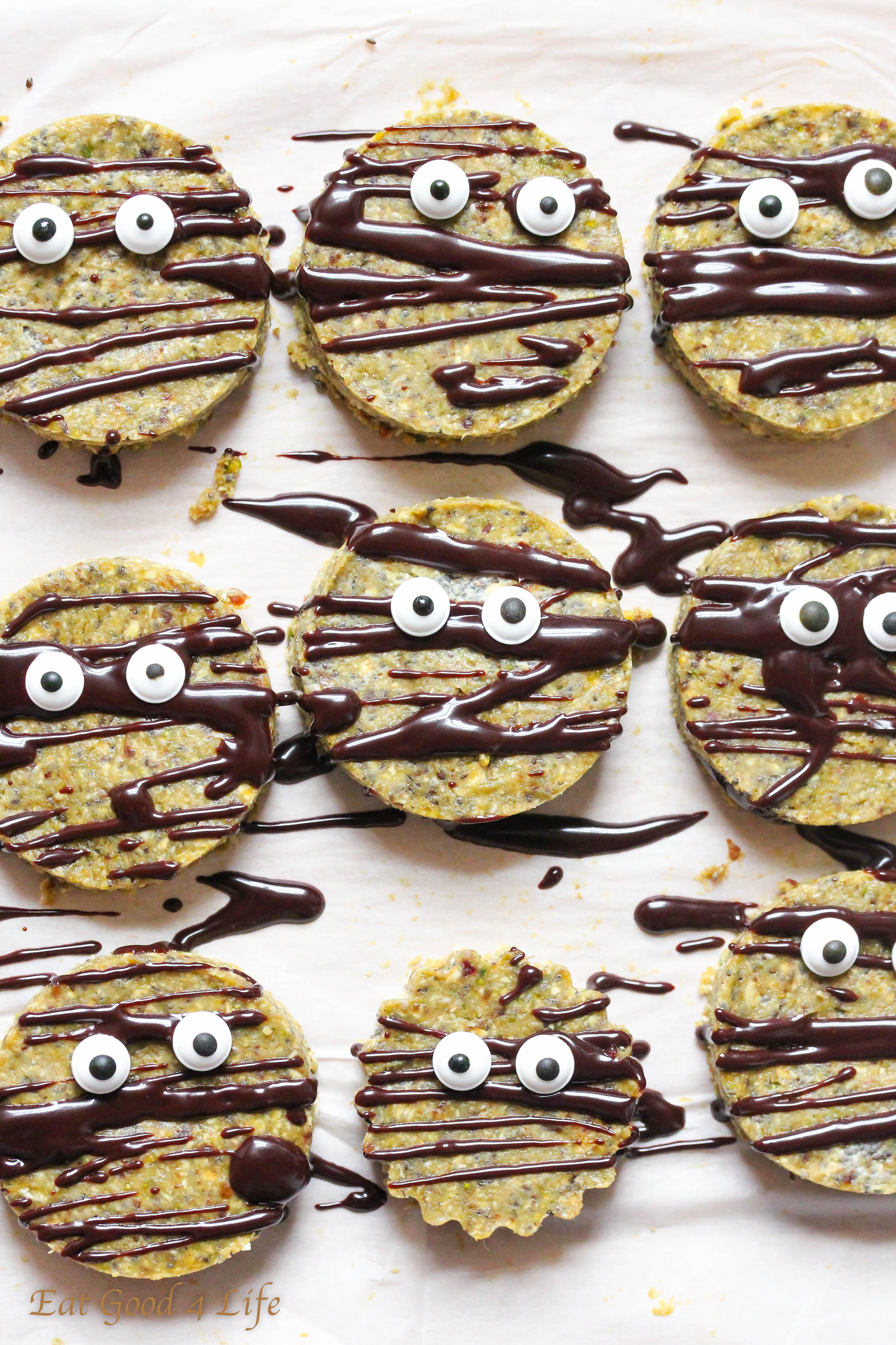 raw halloween cookies - vegan gluten free