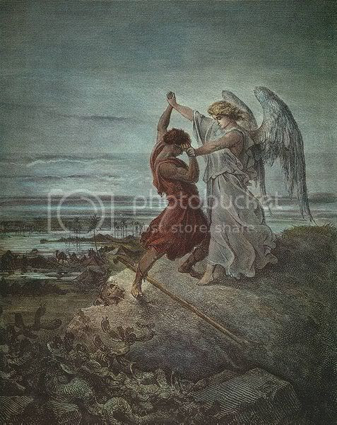 Jacob Wrestling with the Angel Pictures, Images and Photos
