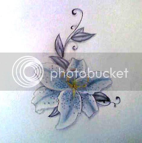 lilytattoo2.jpg stargazer lily tattoo