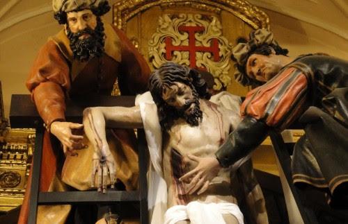 jose de arimatea bajando a jesus de la cruz fondo