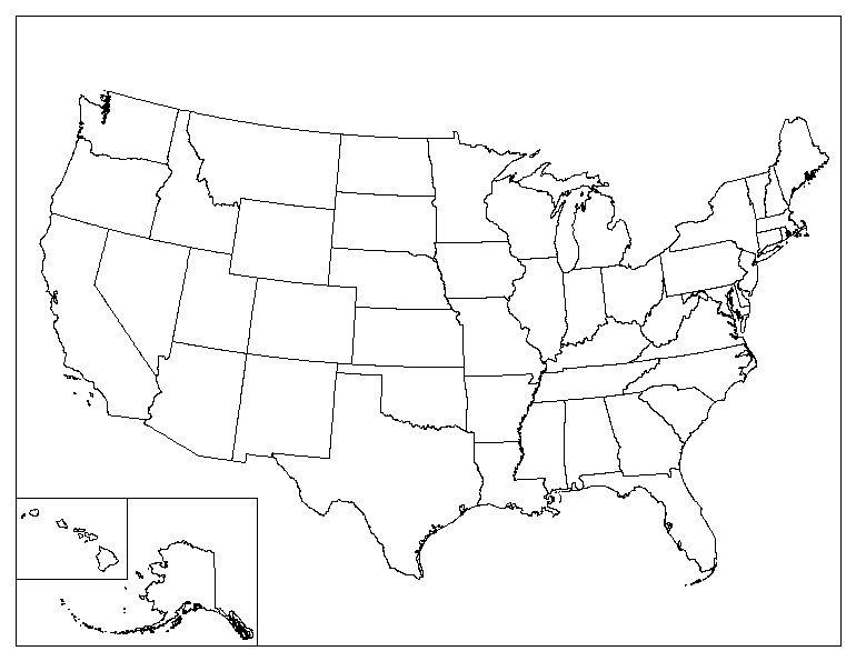 Map United States Printable | denbtk