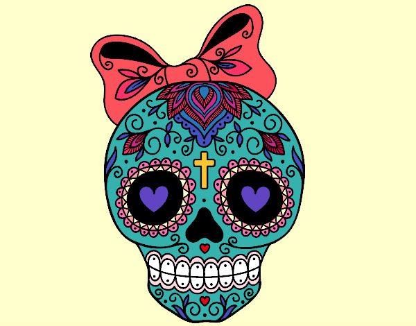 Dibujo De Dìa De Los Muertos Mexico Pintado Por Rubielita En Dibujos