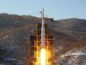 The rocket launch of the Democratic People's Republic of Korea (DPRK) during December 2012. The action sent shockwaves through the imperialist world. by Pan-African News Wire File Photos