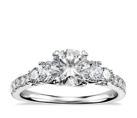Truly Zac Posen Five Stone Trellis Diamond Engagement Ring