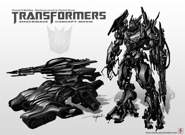 Another art concept of Shockwave for TRANSFORMERS 3.