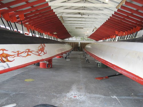 long boats in shed AmSam