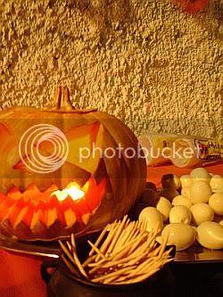 Halloween- abóboras acesas