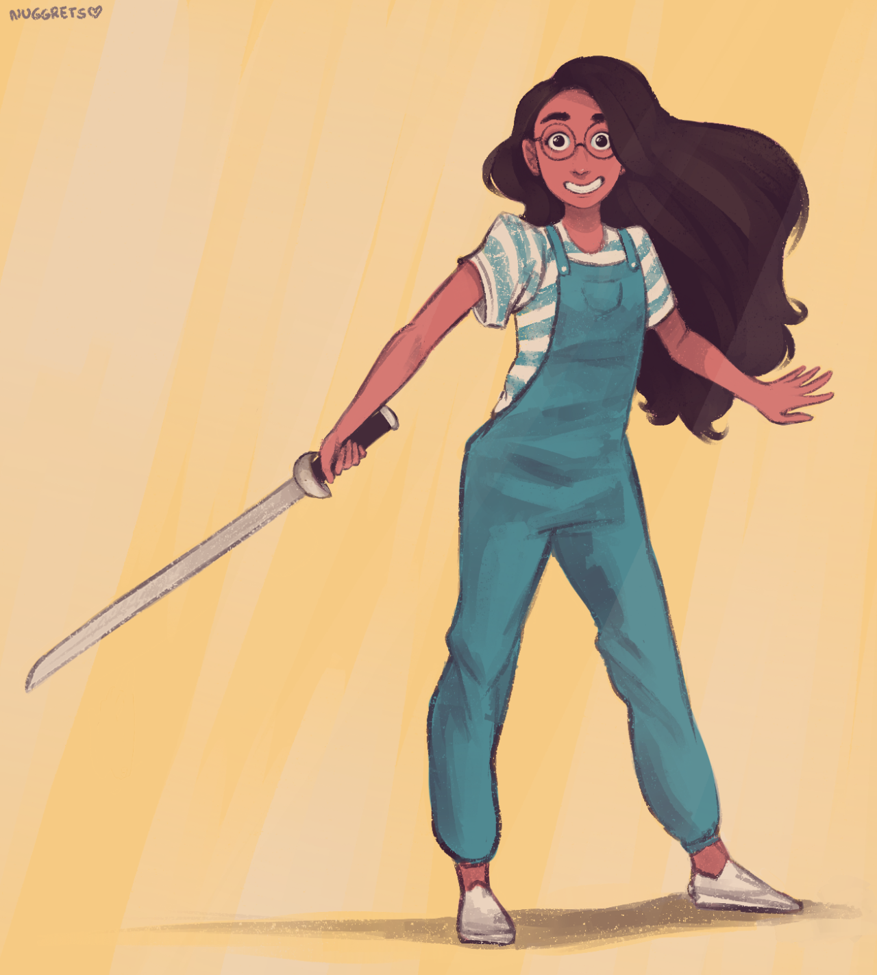 connie maheswaran in #22, as requested by spatialheather (i darkened the pink tone slightly because she was looking way too pale, aha)