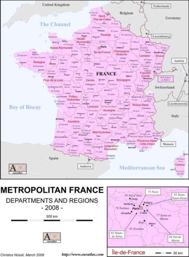 Pictures Of France Map. printable map of France
