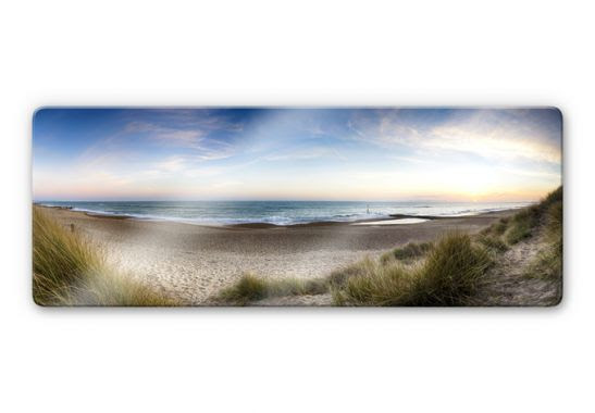 Glasbild Strandpanorama - Strandidyll für das Wohnzimmer ...