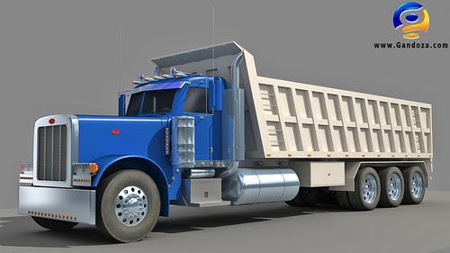 Heavy dump truck by Gandoza