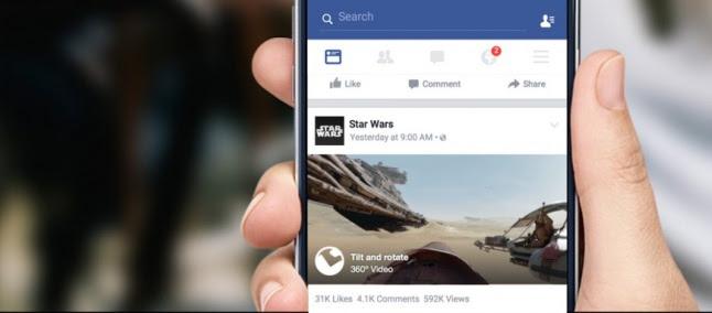 Facebook começa a disponibilizar vídeos em 360 graus nas timelines dos usuários