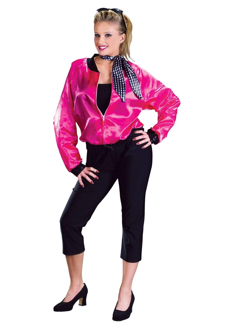 50s rock n roll pink women jacket costume  dancewear