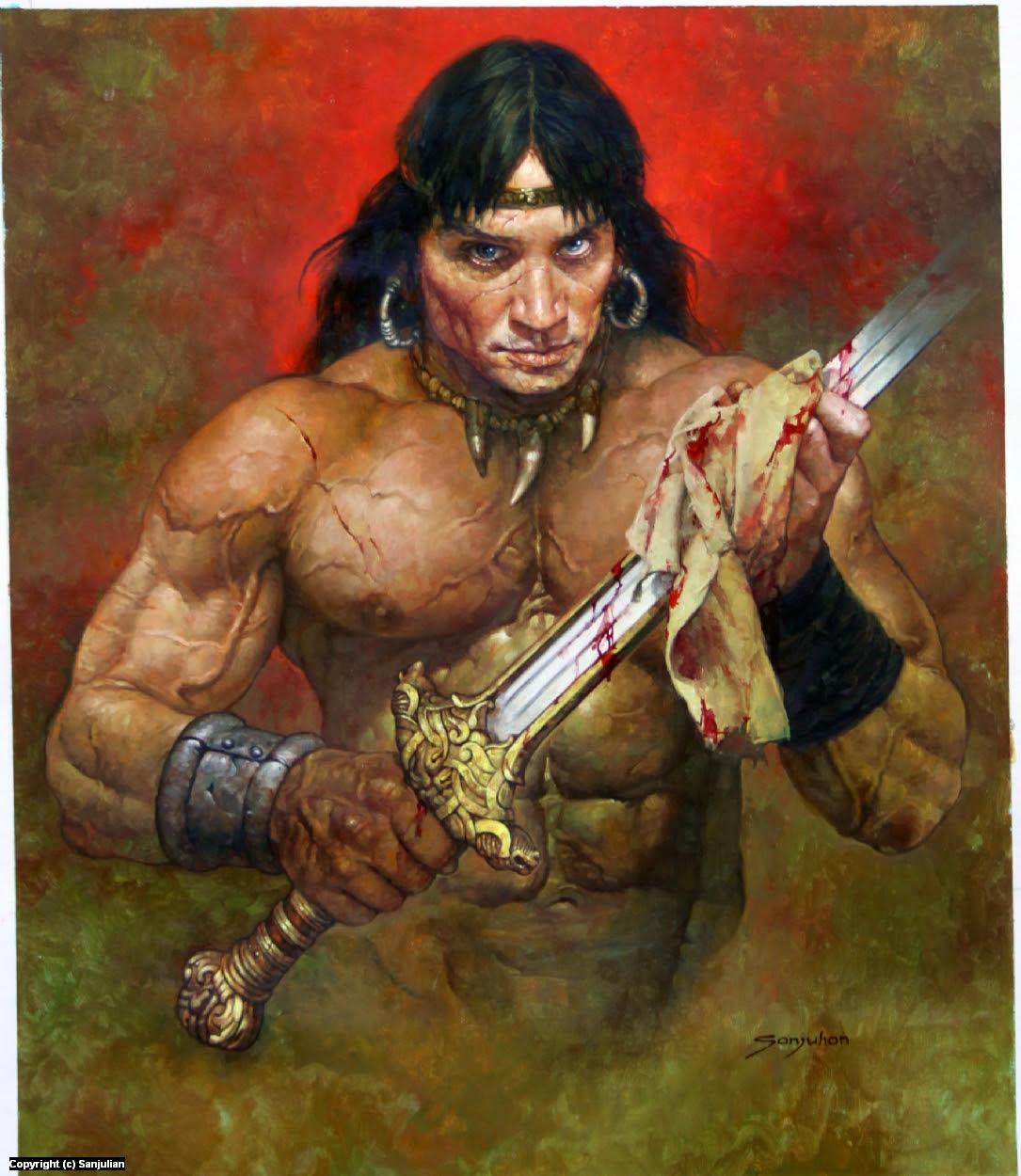 Conan Artwork by Manuel Sanjulian
