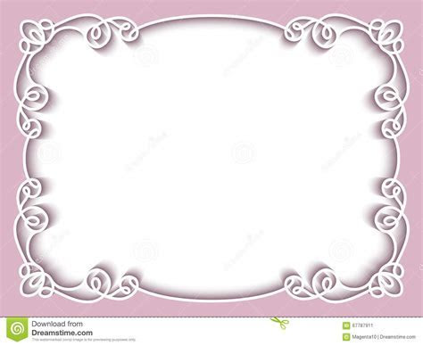 Rectangle Paper Frame, Greeting Card Template Cartoon