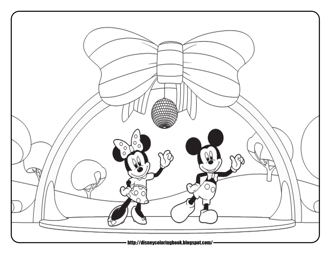 Minnie Mouse And Mickey Mouse Coloring Pages Eskayalitim
