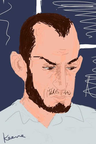 Man on PATH (iPhone sketch)