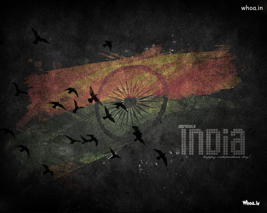 Incredible India Independence Day With Dark Background Hd Wallpaper