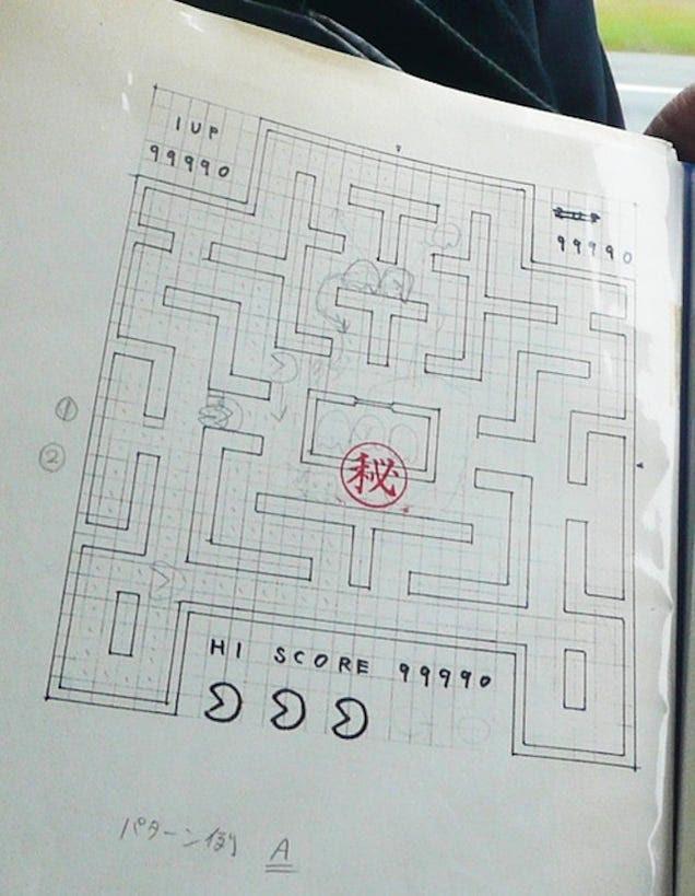 El creador de Pac-Man muestra por primera vez sus bocetos del mítico juego