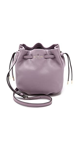 Kate Spade New York Women's Kacey Lane Small Poppy Bucket Bag, Lilac Bliss, One Size