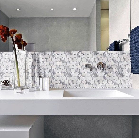Modern Bathroom Backsplash Ideas