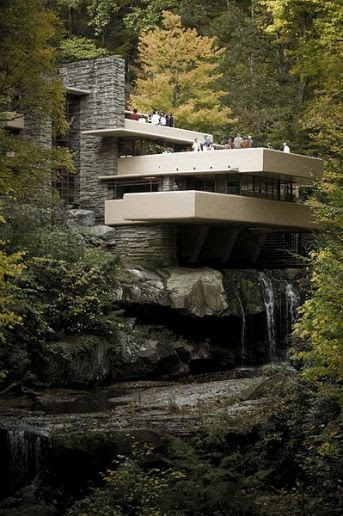 Fallingwater, Frank Lloyd Wright, photographer unknown, via FoxNews.com, used w/o permission