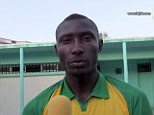 Tragedy: Cameroonian striker Albert Ebosse died after being hit in the head by object thrown from stands