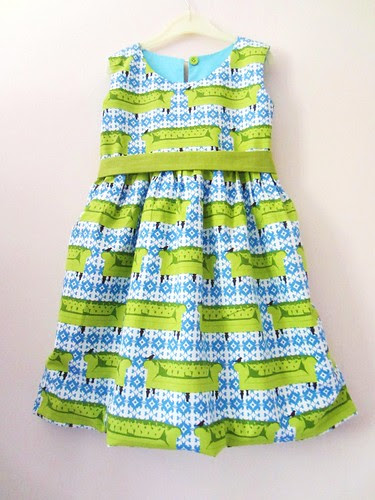 bird therapy party frock front