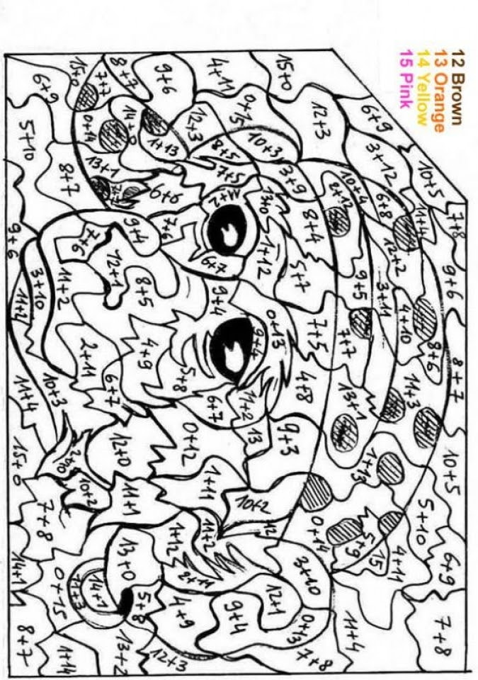 Get This Difficult Color by Number Pages for Grown Ups TCI21