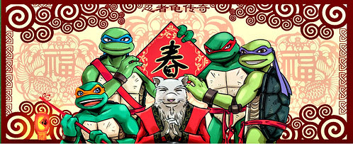 TMNT LEGEND // Year of the Rat Forum illustration ..新春愉快! [[courtesy of TMNT Legend]]