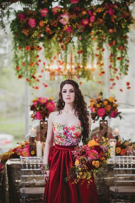 Mystical Red Wedding Theme   ElegantWedding.ca