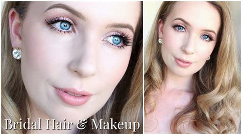 Bridal Hair & Makeup for Very Pale Skin & Blue Eyes   YouTube