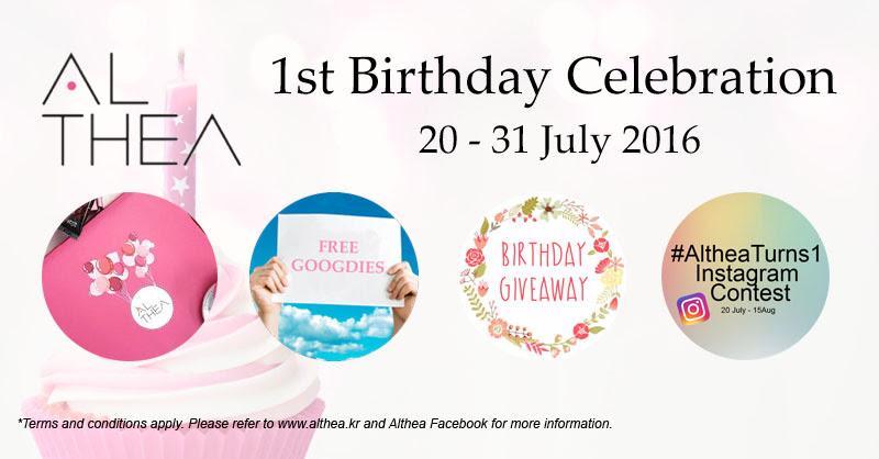 Althea Korea Birthday Instagram Contest Giveaway Goodies Free