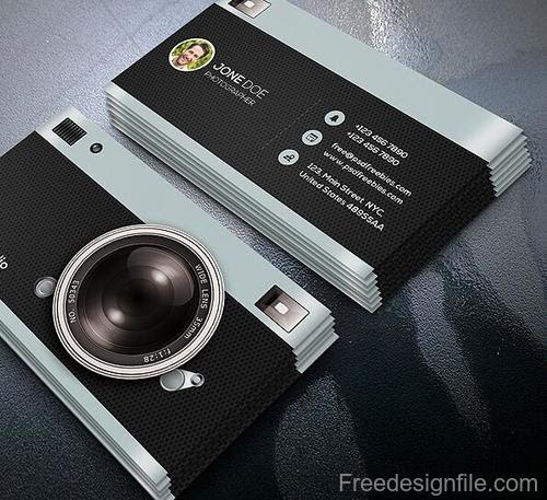 Free Download Template Business Card PSD - Photography