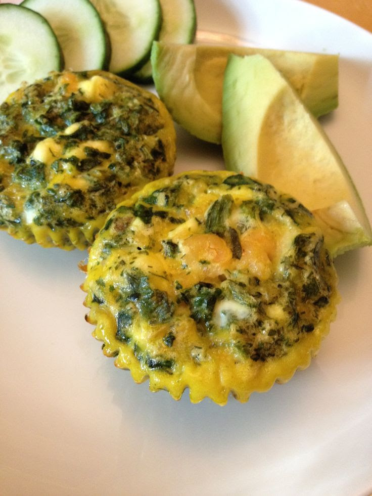 Shrimp and Spinach Egg Muffins
