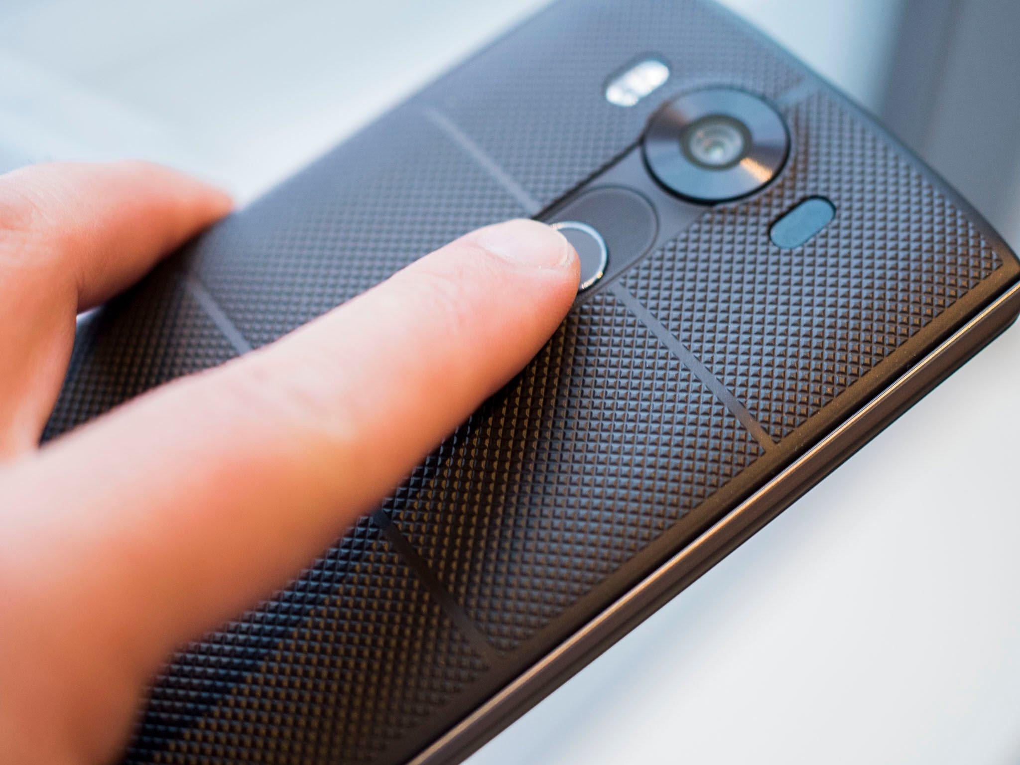LG V10 fingerprint sensor
