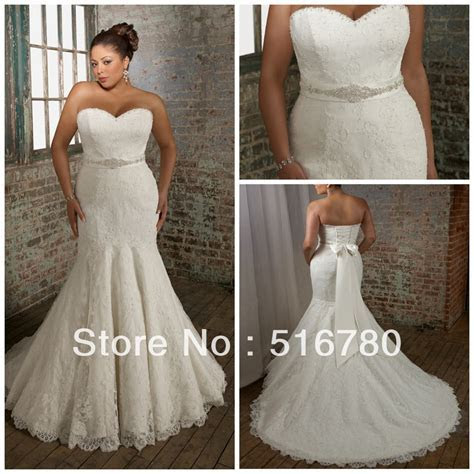 Fast Delivery High Quality Straplss Mermaid Lace Plus Size
