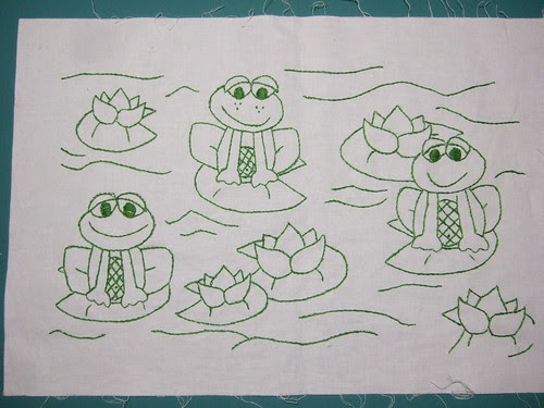 For the frog quilt