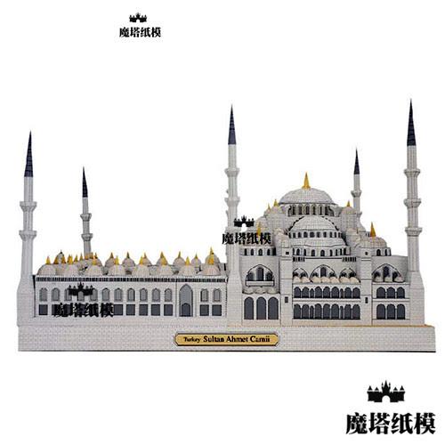 3D World Famous Building Turkish Blue Mosque Handmade