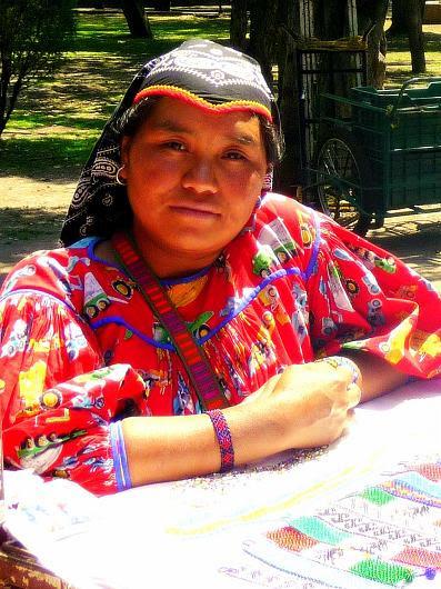 Huichol woman at Chapultapec