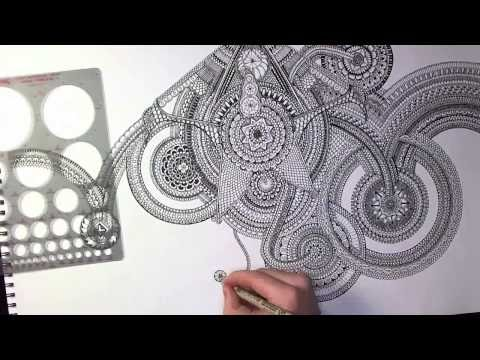 Handzeichnung Zentangle Mandala-Element