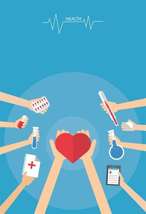 Medical Care Cartoon Poster Background Material Knowledge