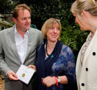 Yorkshire garden wins Chelsea gold. Gary Verity, Tracy Foster being handed gold from Nicky Chapman