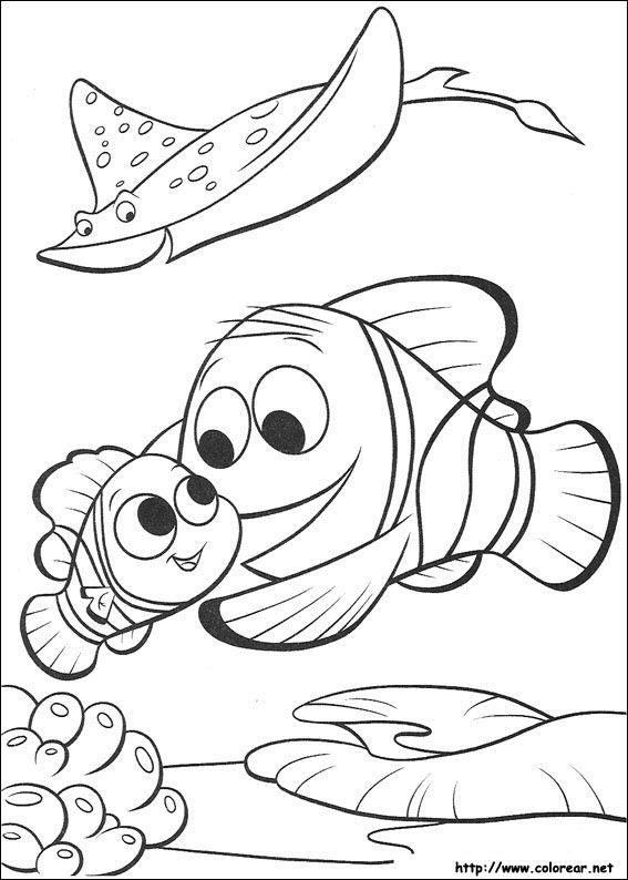 Dibujos De Buscando A Nemo Para Colorear En Colorearnet
